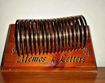 Memos and Letters Holder Vintage Desk Organizer