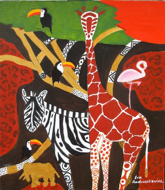 AFRICA 2. original painting oil, large oil, abstract oil painting, contemporary art.