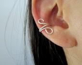 Ear cuff - bague d'oreille - faux piercing - argent sterling 950