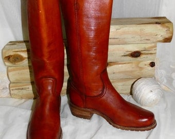 Womens Tall Leather Vintage FRYE Campus Riding Boots Size 8.5 D/ Made In USA