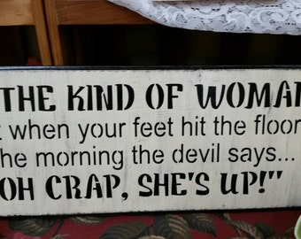 Wooden sign for woman cave cute!
