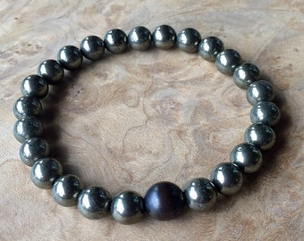 Boyfriend Beads- Pyrite and Copper Grounding Beads