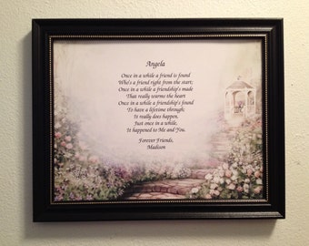 Best Friend Gift, Birthday Gift, Gift For Bestfriend, Personalized Poem, For Friend, Frame Included, BFF, Bestie, Christmas Gift