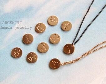 Gold dot necklace   Etsy