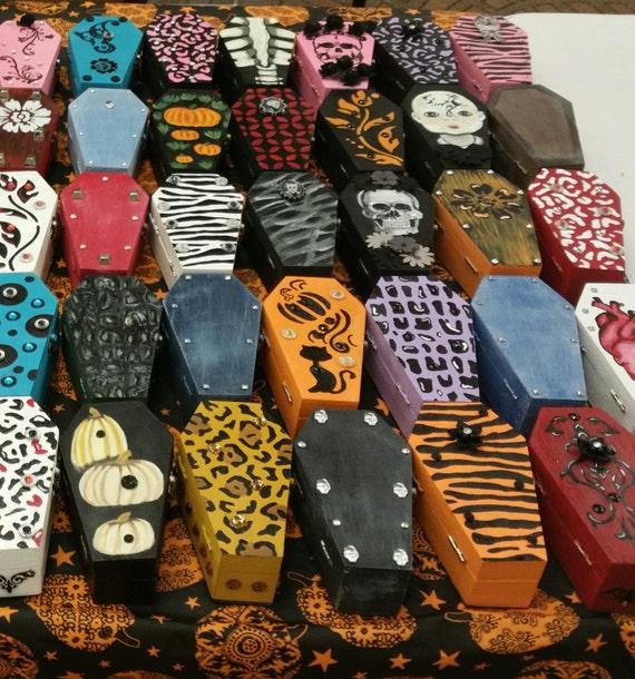 Customized Coffin Jewelry Box