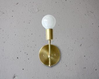 Transitional Brass Sconce - Lillian - Elegant Wall Light -  Brass wall sconce - Mid century Modern