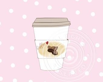 Coffee greeting card // Coffee cup // I love coffee