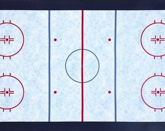 Hockey Rink Panel  / Sports Life 3 / Robert Kaufman Fabric  / Fabric Panel
