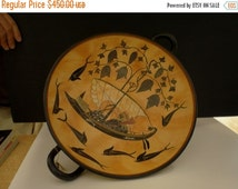 For Sale Black figure Kylix With Dionysus crossing the sea- Exekias - Munich Museum Replica