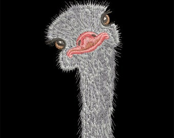 Machine Embroidery Design - Ostrich - 2 sizes