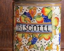 Vintage Biscotti jar