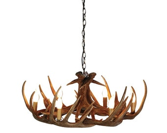 Wide Antler Chandelier