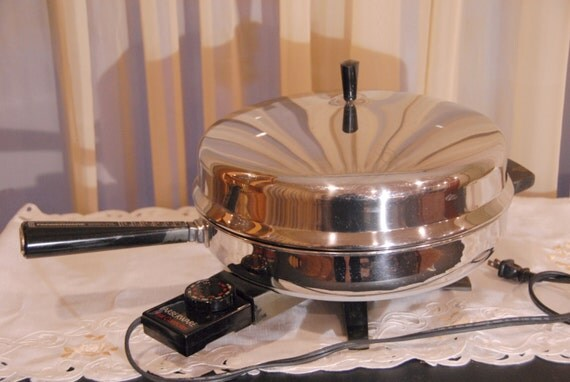Vtg Farberware 12 Electric Skillet With Domed Lid Amp Cord