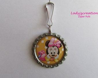 Minnie Mouse Zipper Pulls