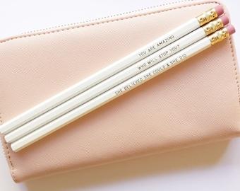 XO Range - Gold Foil Pencil Set Two
