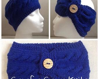 Knitting PATTERN - Basic Cable Headwrap, Ladies Head Warmer, Knit Earwarmer, Knit Headband, Knitted Headband, PDF Pattern, Digital Download