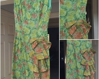 SALE Vintage Beautiful Summer Dress with Detail XXS