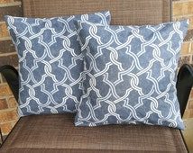 Intertwined Blues 14x14 Pillow Cover Set