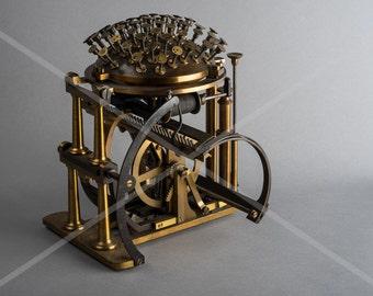 Fine Art Print of a antique Malling Hansen Writing Ball Typewriter
