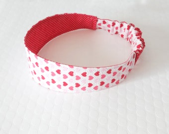 Heart headband, Reversible Headband, Fabric Headband, Cotton Headbands, Toddler Headband, Girls Headband, Womens Headband, baby headbands