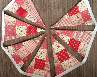Pink patch work bunting