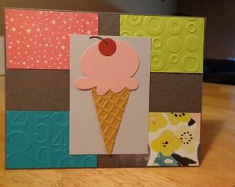 Strawberry ice cream card