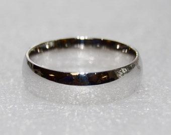 Vintage Men's 14k White Gold Wedding Band Ring Size 9