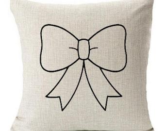 Linen Pillowcase- Sweet Bow