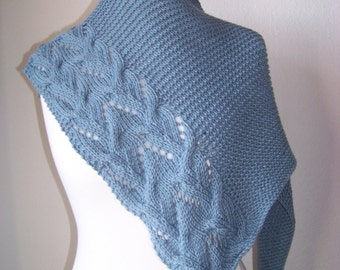 """Knitting pattern shawl """"Jeans"""""""
