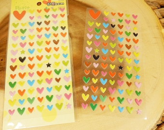 3D Heart Stickers, Star Stickers, Wedding Scrapbook, Envelope Seals, Coloured Hearts, Planner Decal