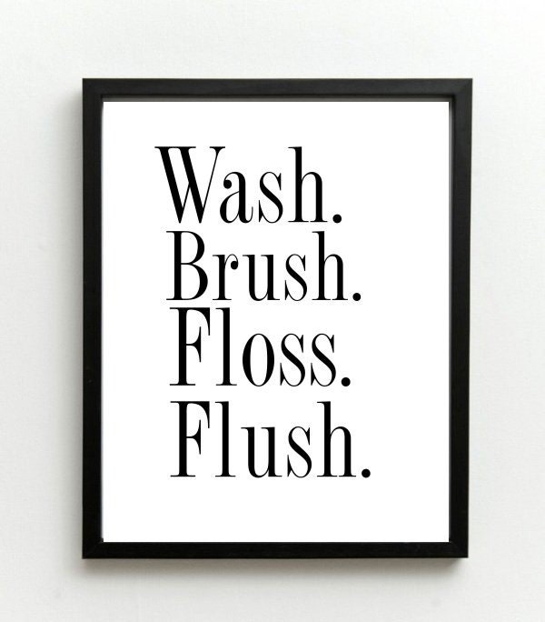 Juicy image with wash brush floss flush free printable