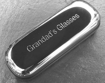 Engraved Chrome Glasses Case