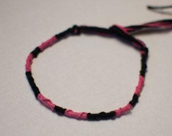 Black & Hot Pink Bracelet