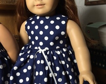 Polka Dots Dress, fits 18 inch doll, American Girl Doll