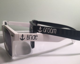 Personalized Bride & Groom Sunglasses: Set of 2