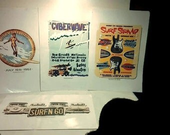 Classic Surfer Posters (10x12) Set of 4