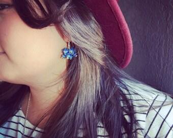 Lapis dangle earings