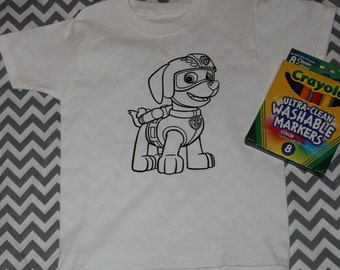 Paw Patrol Coloring Shirt for kids / Youth / Toddler