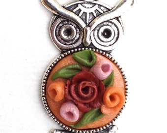 great, silver, pendant roses 3D