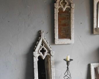 Ornate gothic mirror   A PAIR