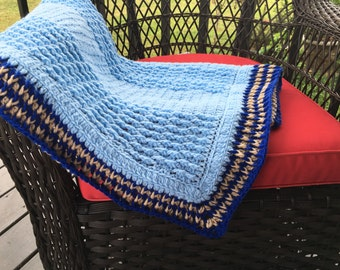 Baby Blanket, handmade crochet, knit