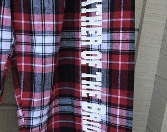 Custom Boxercraft flannel pajama pants!