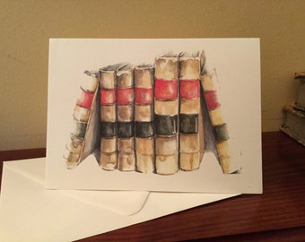 Greeting card - old law books