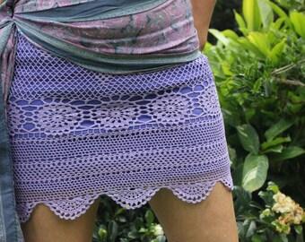 Crochet Mini Skirt Size S