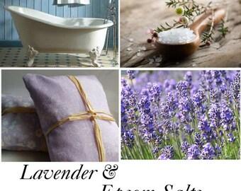 Lavender Epsom Salt, Lavender Epsom Salt Bath - 1lb(16oz)