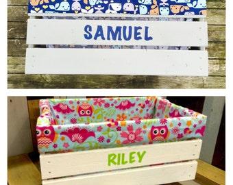 Childrens Toy Box - Toy Storage - Personalized Toy Box