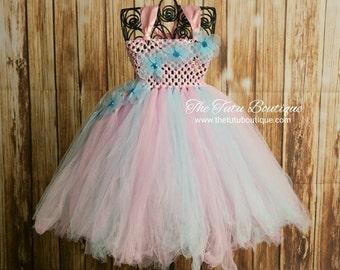 Cotton Candy Tutu, Flower Girl Tutu Dress, Wedding, Cute Dress up Dress, Gift, Birthday Tutu Dress, Fun Play