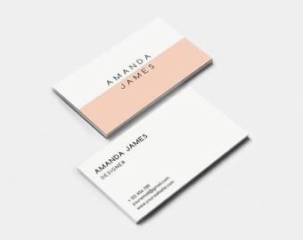 Modern business card | Etsy