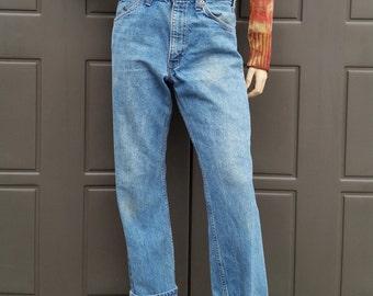 509 Levis Orange Tab Denim Jeans  vintage 70's Waist 32 in