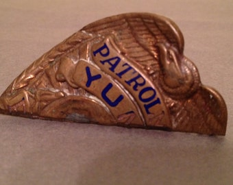 Police badge, arizona patrolman badge,yuma az. police. vintage badge.